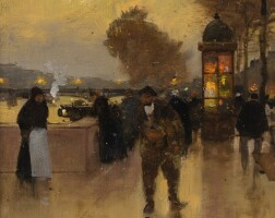 66. aloys-françois-joseph loir, dit luigi loir | docks ofparis at dusk