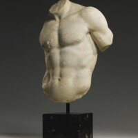 23. a marble torso of a god or athlete, roman imperial, circa 1st/2nd century a.d.