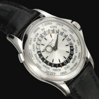 43. 百達翡麗(patek philippe) | 5130g型號白金自動上鏈世界時間腕錶,2008年製。