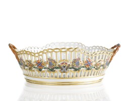14. a large russian porcelain basket from the service for the imperial order of st. andrew first called, gardner porcelain manufactory, verbilki, 1778-1780