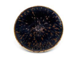 5008. a russet-splashed black-glazed 'partridge feather' bowl song dynasty |