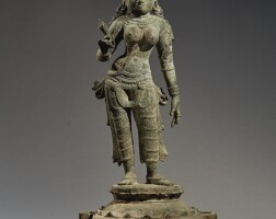 912. a copper alloy figure of parvati southern india, vijayanagar period, circa 15th century  