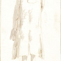 346. giovanni battista tiepolo | a standing man seen from behind