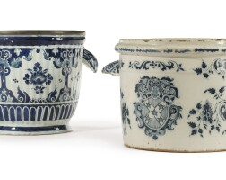10. two french faïence blue and white wine coolers early18th century
