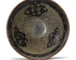 121. a 'jizhou' papercut and tortoiseshell-glazed bowl southern song dynasty