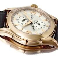 44. 百達翡麗(patek philippe) | 5134r型號粉紅金目的地時間腕錶備24小時顯示,2006年製。