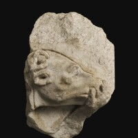 56. a roman marble hunt sarcophagus relief fragment, circa late 3rd century a.d. | a roman marble hunt sarcophagus relief fragment