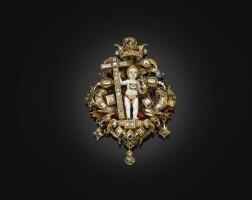 6. 應為德國南部,奧格斯堡,約1600年 | 莊嚴聖嬰像吊墜