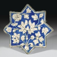 5. an ilkhanid pottery star tile, persia, early 14th century
