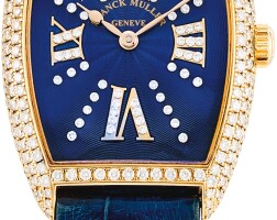 120. franck muller   curvex cintree, reference 7501 s6 mm cd a yellow gold and diamond-set wristwatch, circa 2006