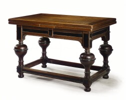 2. a dutch oak and ebonised extending table baroque, 17th century and later