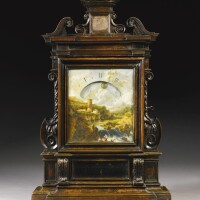13. an ebonised fruitwood night timepiece, italian, circa 1690