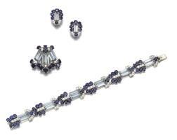 434. sapphire, aquamarineand diamond parure, cartier, circa 1930