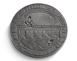 4012. a rare american corporate silver seal of the proprietors of essex bridge, boston, 1788, possibly by paul revere jr.