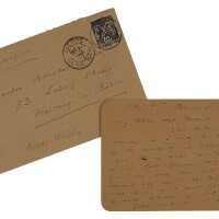 314. wilde, oscar. autograph letter signed to carlos blacker, 21 july [1897], 2 pp.