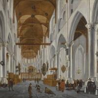 148. daniel de blieck   the interior of the laurenskerk, rotterdam, looking east