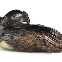 3409. a black jade figure of a phoenix ming dynasty |