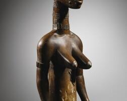 28. statue, baulé, côte d'ivoire  