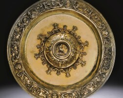 2. a silver-gilt circular dish, hispanic or italian, first half of the 16th century
