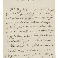 208. rossini, gioachino. remarkable autograph letter of introduction for georges bizet to pietro romani