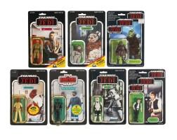 29. seven assorted star wars action figures, circa 1983