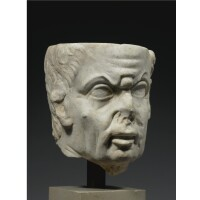 72. a marble portrait head of a man, late roman republican/early imperial, mid 1st century b.c./early 1st century a.d.