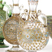 22. philippe-joseph brocard (1831-1896)a late 19th centurysmall glass vasebouteille |