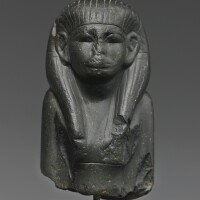 8. an egyptian greywacke bust of a woman, 12th dynasty, 1938-1759 b.c.