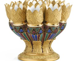 29. a russian porcelain vase, imperial porcelain factory, period of nicholas i, in the gothic style, circa 1832  