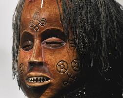 148. lwena mask (pwevo), angola