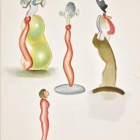 513. allen jones, r.a. | studies for glass sculpture