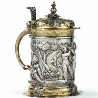 6. chope couverte en argent et vermeil, ulm, vers 1660, orfèvrehl.k non identifié (rosenberg, n°4782)