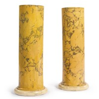 48. a pair of scagliola pedestals