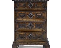 9. an italian walnut commode 17th century and later