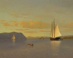 79. francis augustus silva | sailing on the hudson near nyack