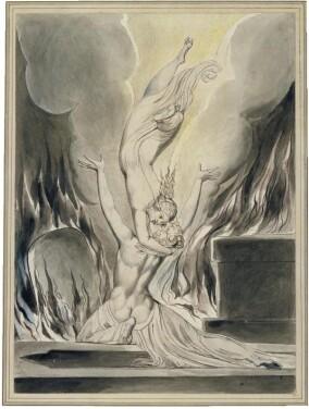 Fine Art Print William Blake Engravings The Skeleton Re-Animated The Grave