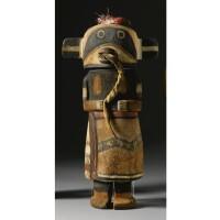 3. a hopi polychrome wood kachina doll, attributed to wilson tawaquaptewa