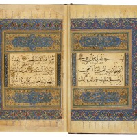 10. a rare selection of surahs from the qur'an, copied by ahmad ibn masud ibn ishaq ibn mahmud al-rumi, persia, probably herat, timurid, dated 849 ah/1445-46 ad