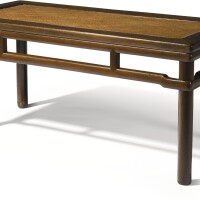 104. a tielimu rectangular bench qing dynasty, 19th century
