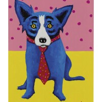 193. george rodrigue (1944 - 2013) | lie the dots down, 1996