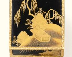 56. a gold-mounted japanese lacquer scent bottle case, paris, 1753 |