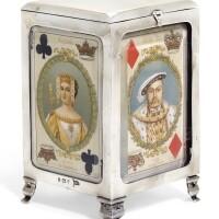 148. an edwardian silver playingcard box, walker & hall, birmingham, 1901 |