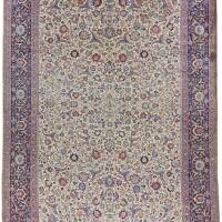 124. an 'amoghli' mashad carpet, northeast persia