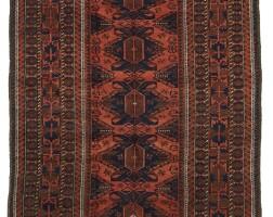 5. a baluch long rug, baluchistan