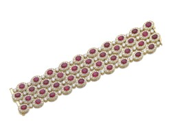 15. 紅寶石配鑽石手鏈, 寶格麗(bulgari)