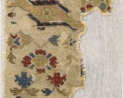 31. an oushak 'bird' rug fragment, west anatolia
