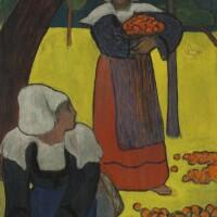 143. émile bernard | bretonnes ramassant des pommes
