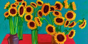 "David Hockney's Old Masters Inspired ""30 Sunflowers"""