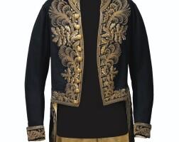 325. habit de grande tenue de sénateur ayant appartenue à napoléon-alexandre berthier, deuxième prince de wagram
