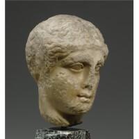 38. a greek marble head of a woman, probably attic , circa late 5th century b.c.